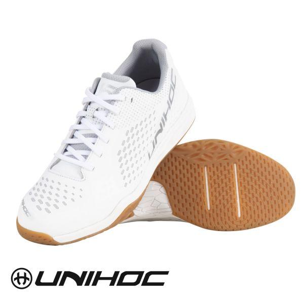 Floorball Schuh Unihoc Schuh U5 PRO LowCut Men weiß/silber