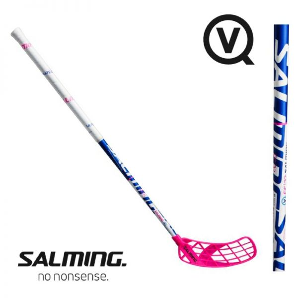 Salming Floorball Schläger QUEST 5 Carbon Composite 32 weiß/blau