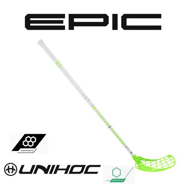 Floorball Schläger - Unihoc Epic Composite 29 weiß grün