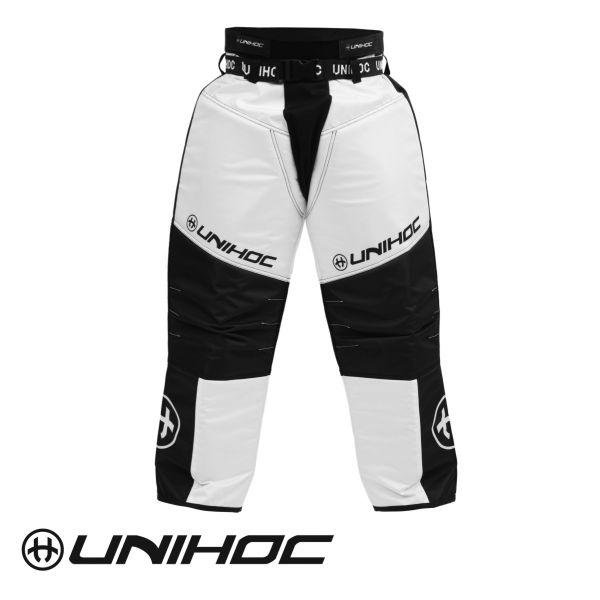 Floorball Torwart Hose - Unihoc TW-Hose KEEPER schwarz/weiß