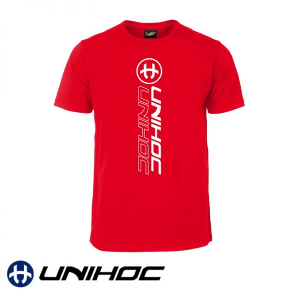 Unihoc Floorball T-Shirt PLAYER rot