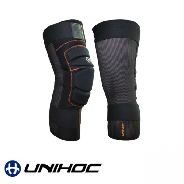 Floorball Torhüter Knieschoner Unihoc Shinguard FLOW black