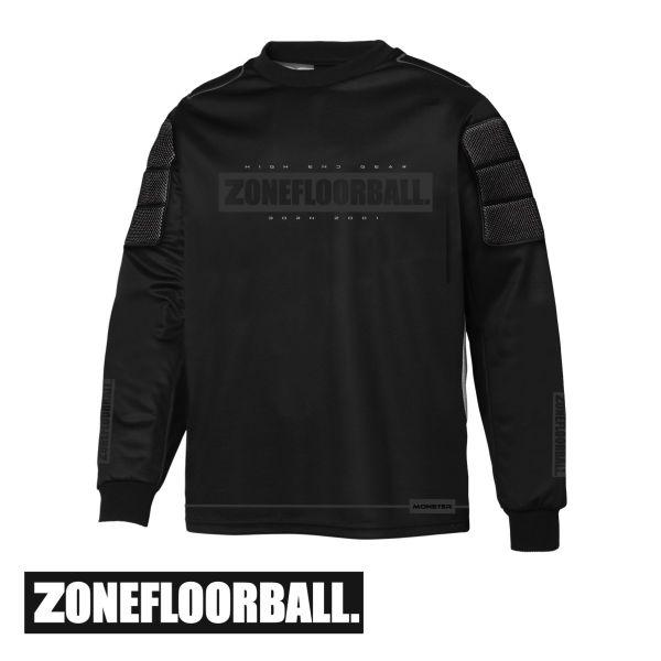 Floorball Torhüter Oberteil - Zone Monster2 schwarz