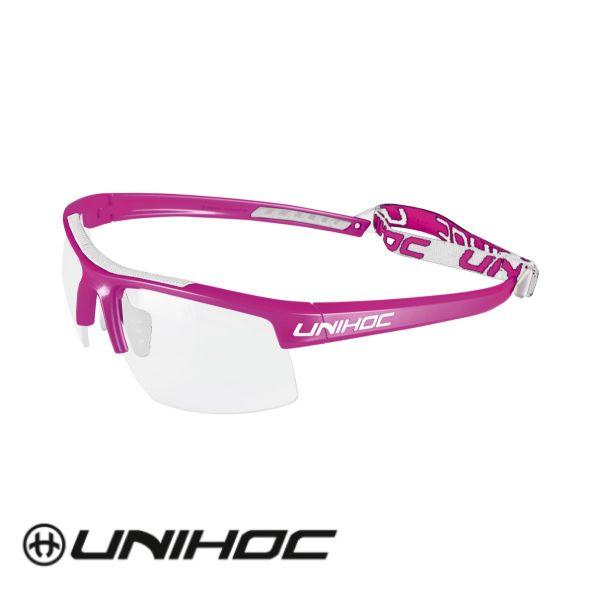 Unihoc Glasses ENERGY Kids cerise/white
