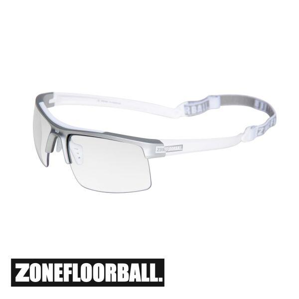 Zone Floorball Sportbrille PROTECTOR Senior weiß/silber