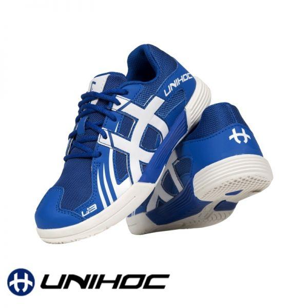 Unihoc Schuh U3 JUNIOR blau/weiß