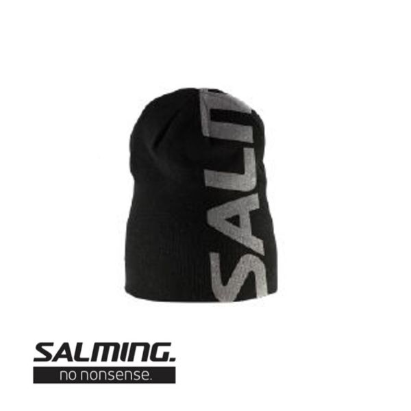 Salming Beanie LOGO schwarz/grau