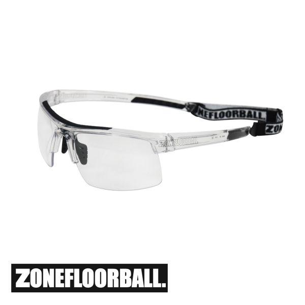 Zone Floorball Sportbrille PROTECTOR Senior transparent/schwarz