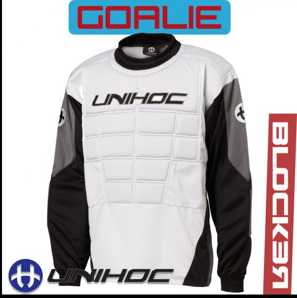 Unihoc BLOCKER TW-Pullover Junior weiß/schwarz