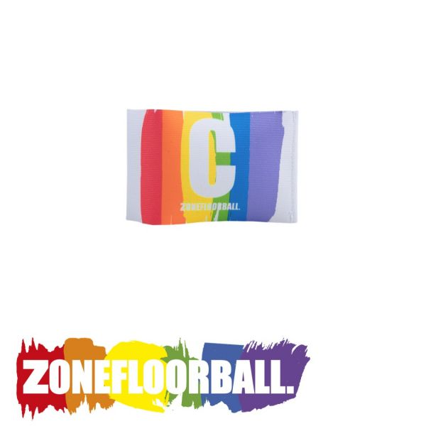 Zone Kapitänsbinde PRIDE weiß/rainbow