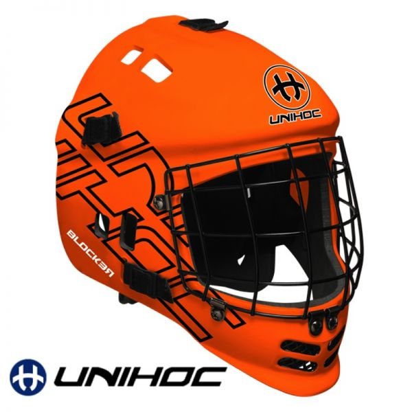 Unihoc BLOCKER Maske neon orange