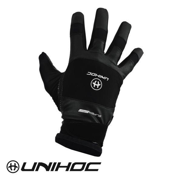 Unihoc Torwarthandschuhe SUPERGRIP schwarz