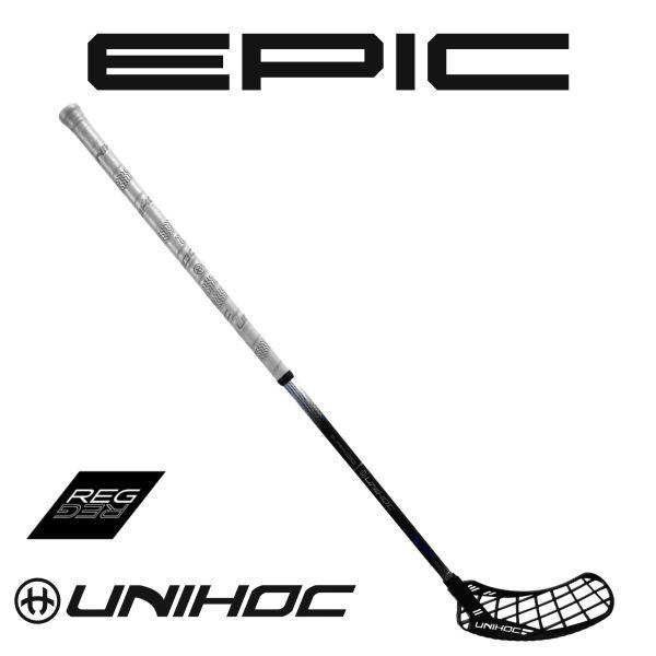 Floorball Schläger Unihoc EPIC GLNT Superskin Regular 26 schwarz