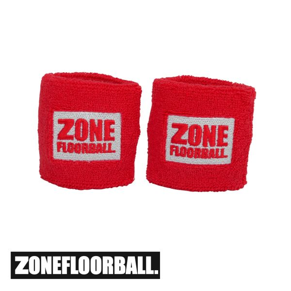 Floorball - Zone Schweißband RETRO rot/weiß (2er Pack)