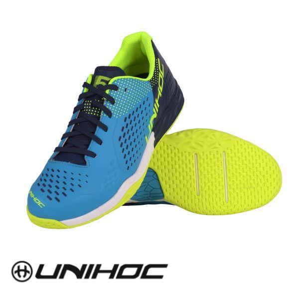 Unihoc Floorball Schuh U5 PRO LowCut Men blau