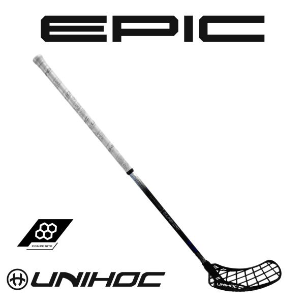 Floorball Schläger Unihoc EPIC GLNT Superskin Composite 30 schwarz