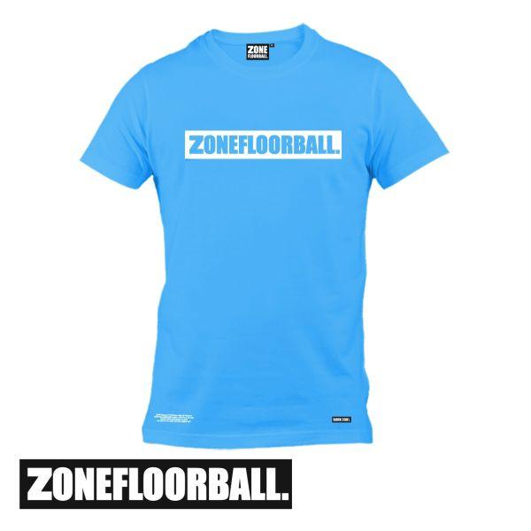 Zone T-Shirt PERSONAL blau/weiß