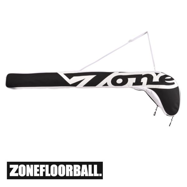 Floorball Schlägertasche - Zone Stickbag WEIGHTLIFTER Junior Schwarz/Weiß