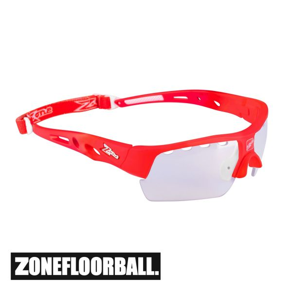 Floorball Brille für Kinder - Zone MATRIX Kids rot