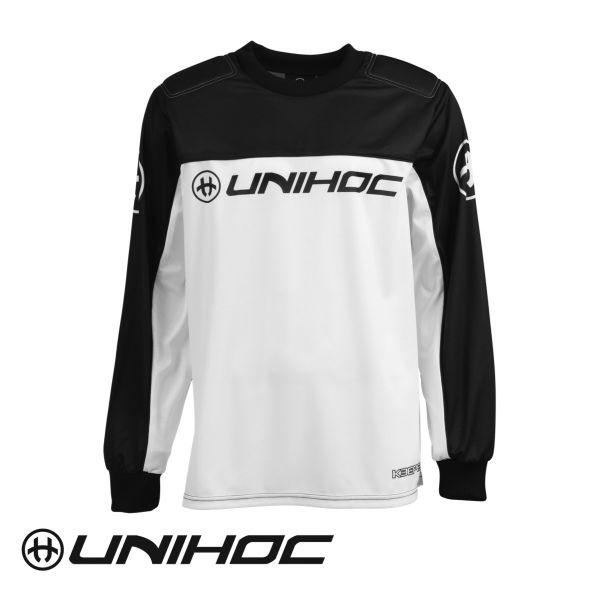 Floorball Torhüter Oberteil - Unihoc TW-Pullover KEEPER schwarz/weiß