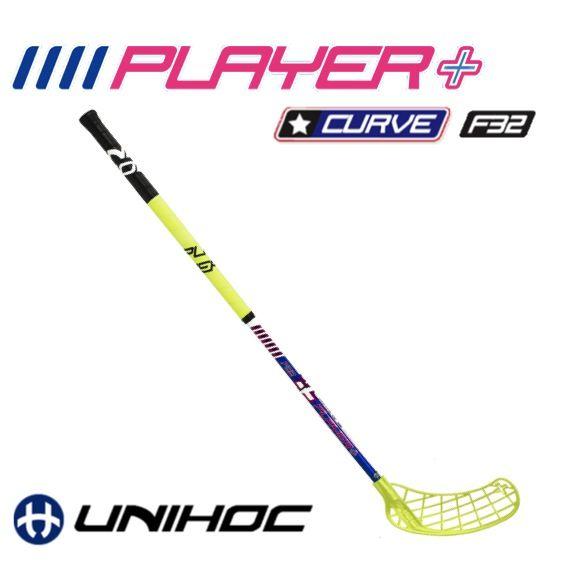 Floorball Schläger Unihoc Player+ Curve 1.5 32