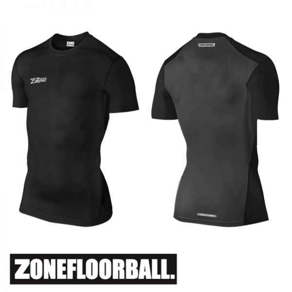 Zone T-Shirt COMPRESSION 2.0 Shortsleeve schwarz