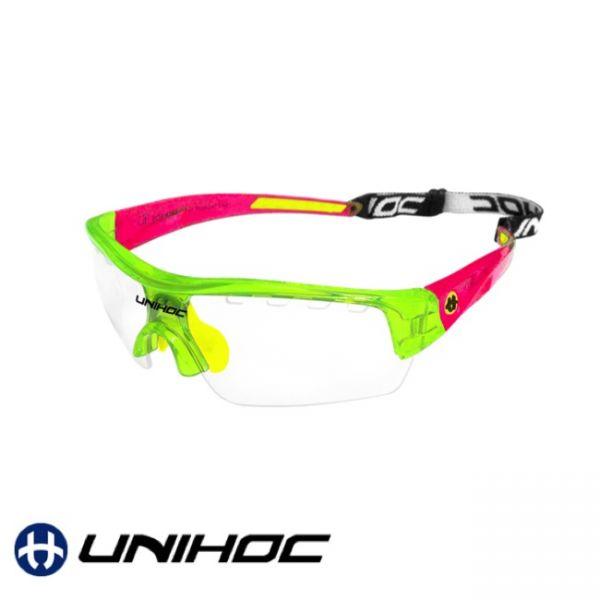 Unihoc Sportbrille VICTORY Junior grün/rot