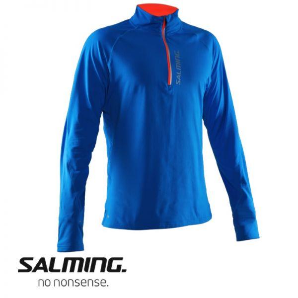 Salming Running LongSleeve Halfzip Tee Men blau