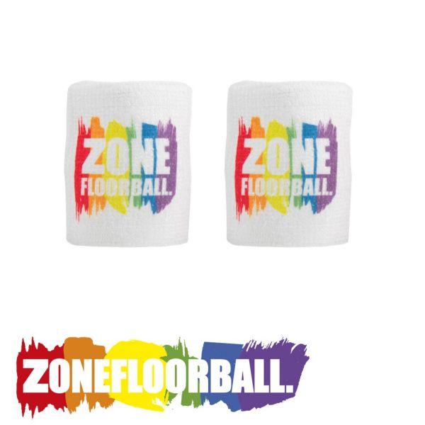 Zone Schweißband PRIDE weiß/rainbow (2er Pack)
