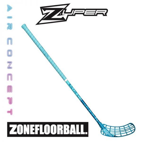 Floorball Schläger Zone Zone ZUPER AIR Superlight Curve 2.0° 27 türkis/blau (Schläger)