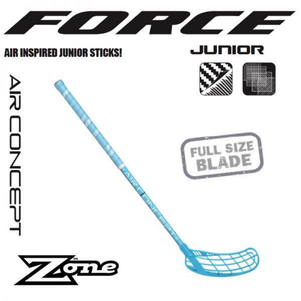 Kinder Floorball Schläger - Zone FORCE AIR JR. 35 eisblau (Schläger)