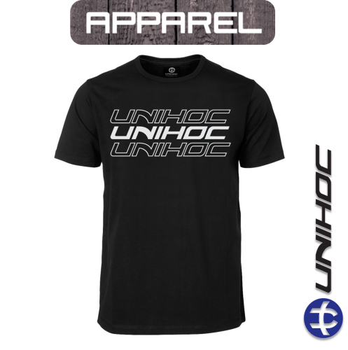 T-Shirt Unihoc TRIPLE black