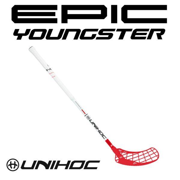 Floorball Schläger für Kinder Unihoc EPIC Youngster Composite 36 weiß/rot