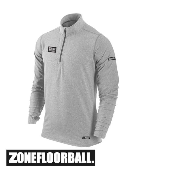 Zone T-Shirt HITECH Long Sleeve grau