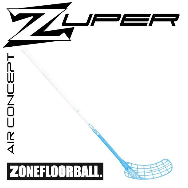 Floorball Kinder Schläger Zone ZUPER AIR 31 weiß/eisblau