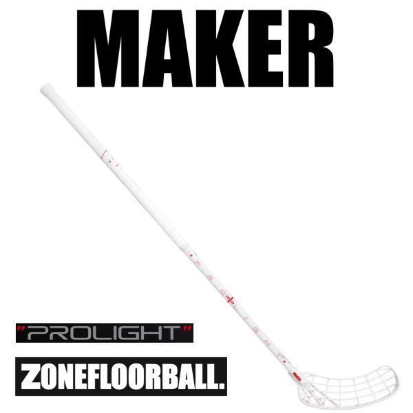 Floorballschläger Zone MAKER Prolight 27 weiß/carbon