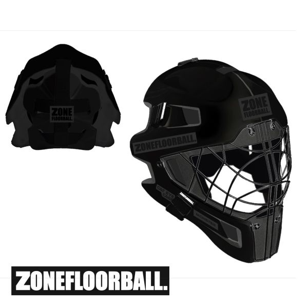 Floorball Torhüterhelm - Zone MONSTER CAT EYE CAGE Maske schwarz