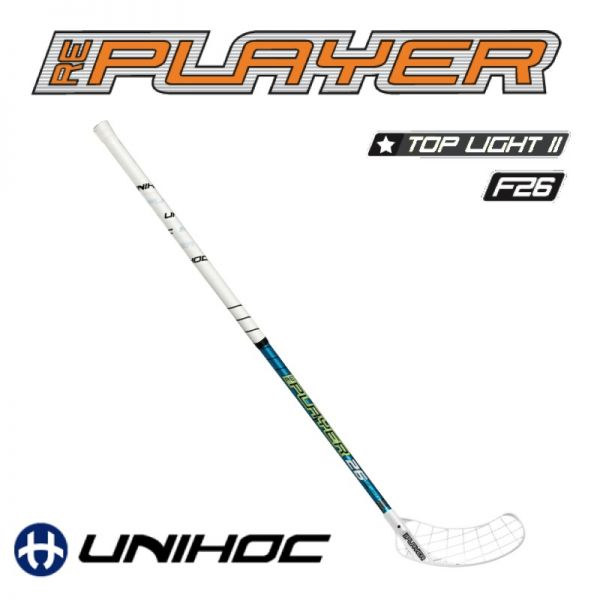 Unihoc REPLAYER TopLight II 26 türkis - Floorball Stick