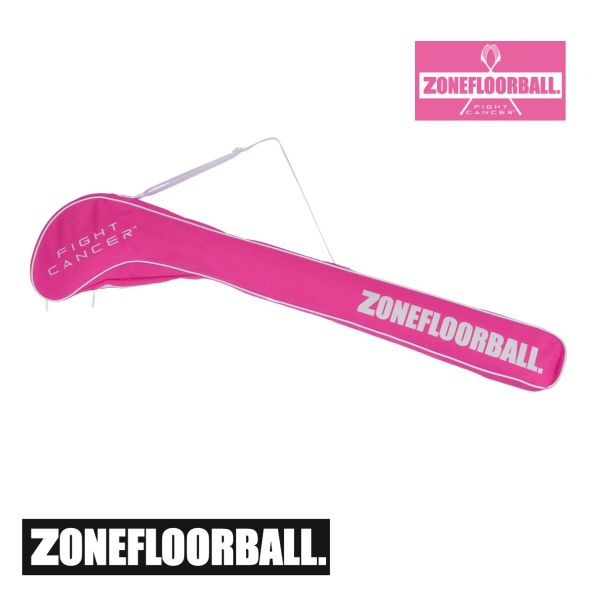 Floorball Schlägertasche - Zone Stickbag FIGHT CANCER 4 Senior pink