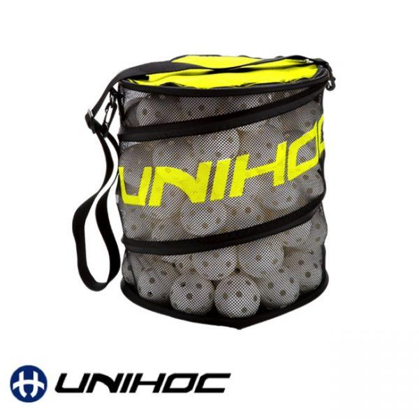 Unihoc Ballsack FLEX neon gelb (80 Bälle)