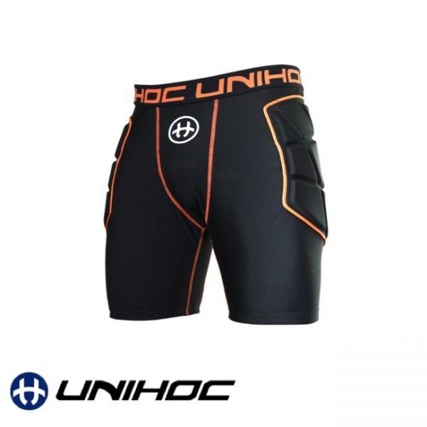 Floorball Schutzhose Goalie shorts FLOW black