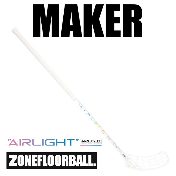Floorball Schläger Zone MAKER Airlight 26 Player's Choice weiß/hologram