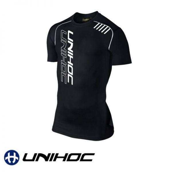 Unihoc T-Shirt COMPRESSION Shortsleeve schwarz