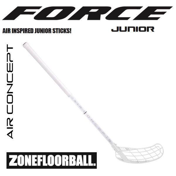 Floorball Kinder Schläger - Zone FORCE AIR JR. 35 weiß