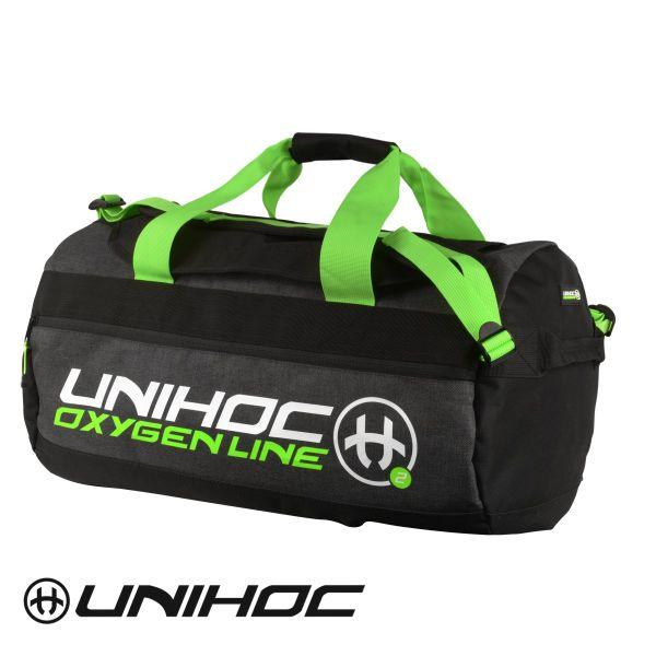 Unihoc Sporttasche OXYGEN LINE mittel Schwarz/Grün