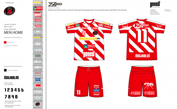 sublimiertes Floorball Trikot von Zone - Pixbo Men´s team_HOME_2012_2013