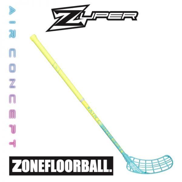 Floorball Schläger Zone ZUPER AIR 31 neon gelb/türkis