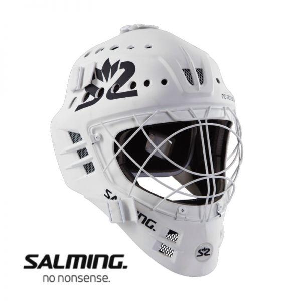 Floorball Helm - Salming PHOENIX Elite weiß