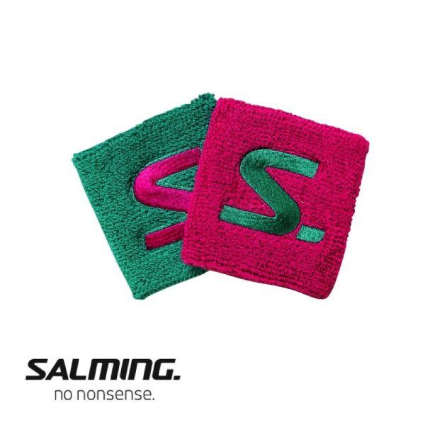 Salming Schweißband SHORT (2er Pack) Pink/Grün