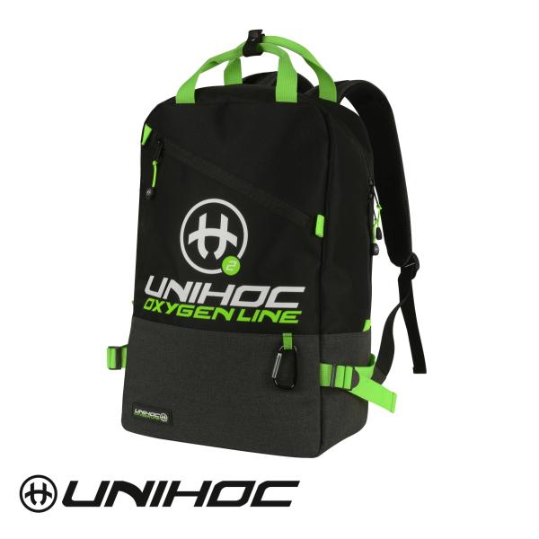 Unihoc Rucksack OXYGEN LINE Schwarz/Grün